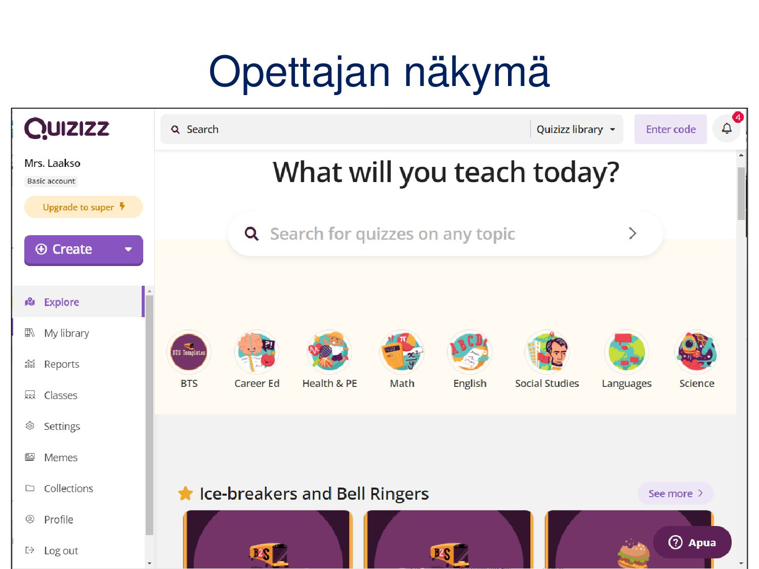 Quiz-kyselyn luominen • Anna kyselyn taustatied...