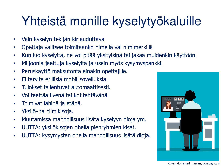 Quiz: Kysymysten lisääminen Kysymykseen ja vast...