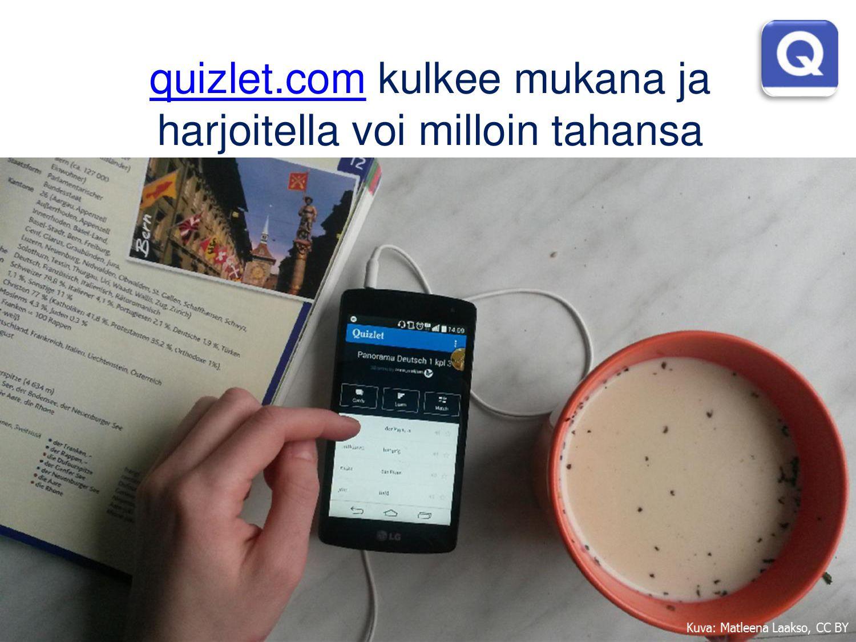 Quizletiä käytetään paljon sanaston ja termien ...