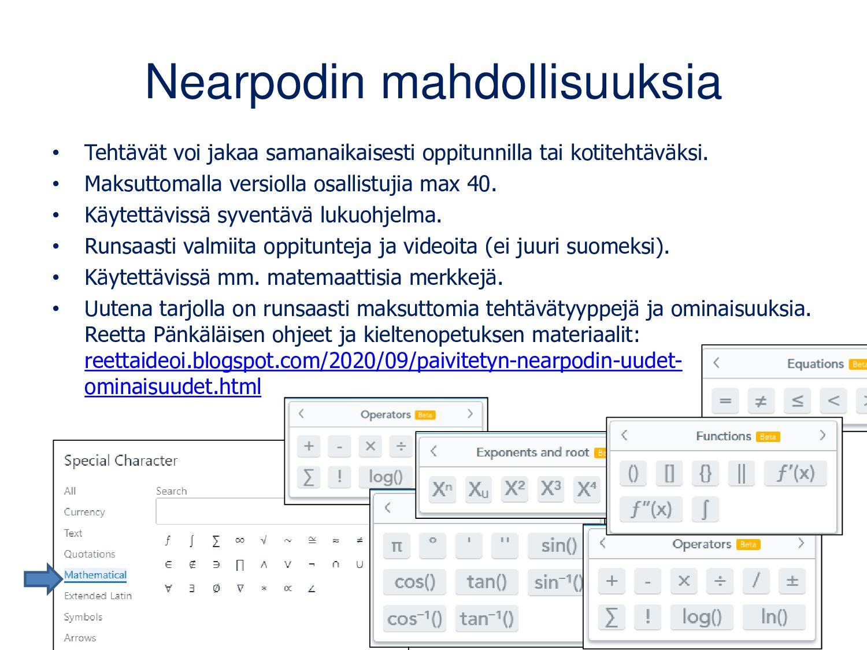 Nearpod on uudistunut • Tehtävät voi jakaa sama...