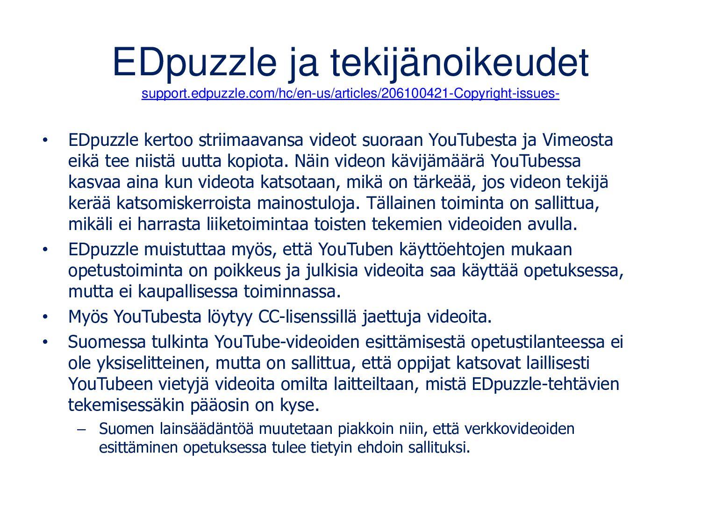 EDpuzzle ja tekijänoikeudet support.edpuzzle.co...