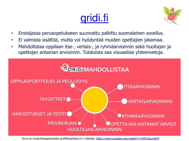 qridi.fi • Ensisijassa perusopetukseen suunnatt...
