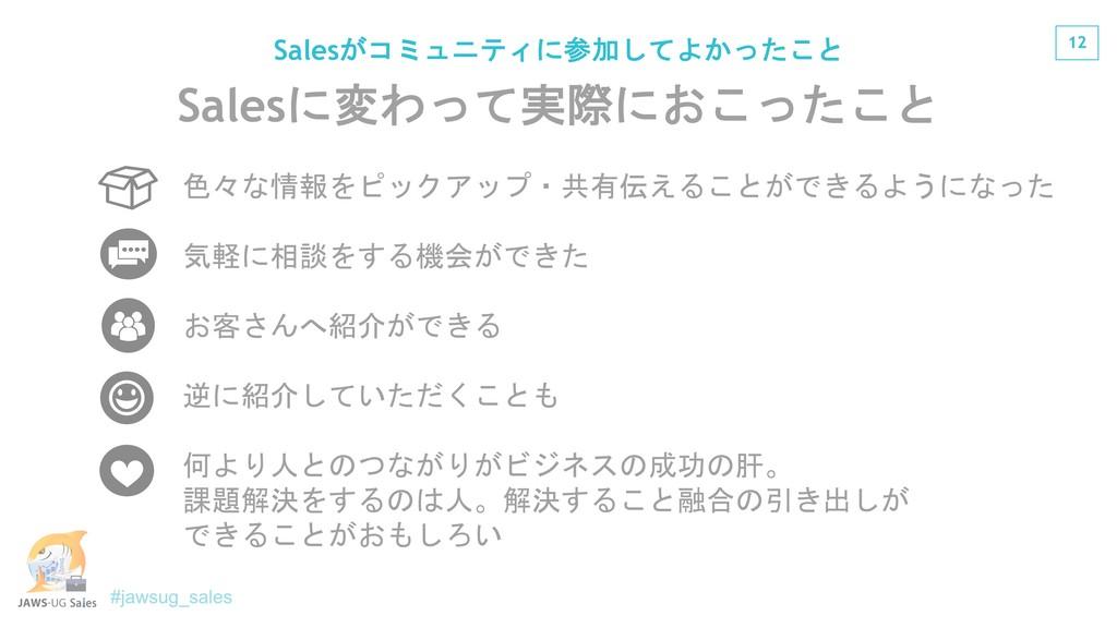 12 Sales? @S Sales&01+*$<; ...