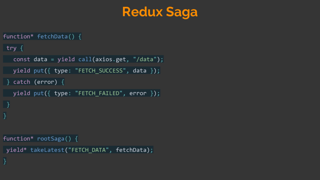 function* fetchData() { try { const data = yiel...
