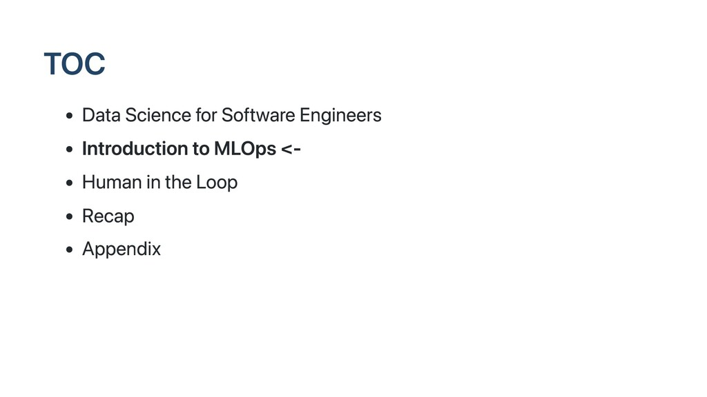 TOC Data Science for Software Engineers Introdu...