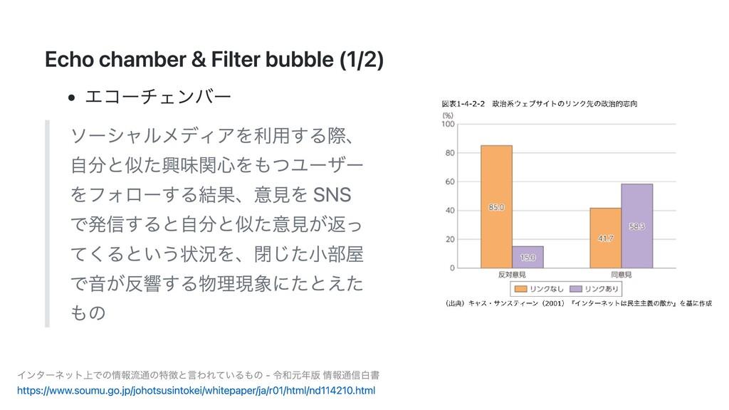 Echo chamber & Filter bubble (1/2) エコーチェンバー ソーシ...
