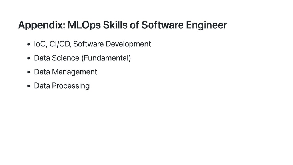 Appendix: MLOps Skills of Software Engineer IoC...
