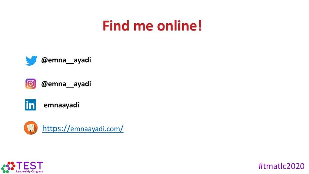 Find me online! @emna__ayadi emnaayadi https://...