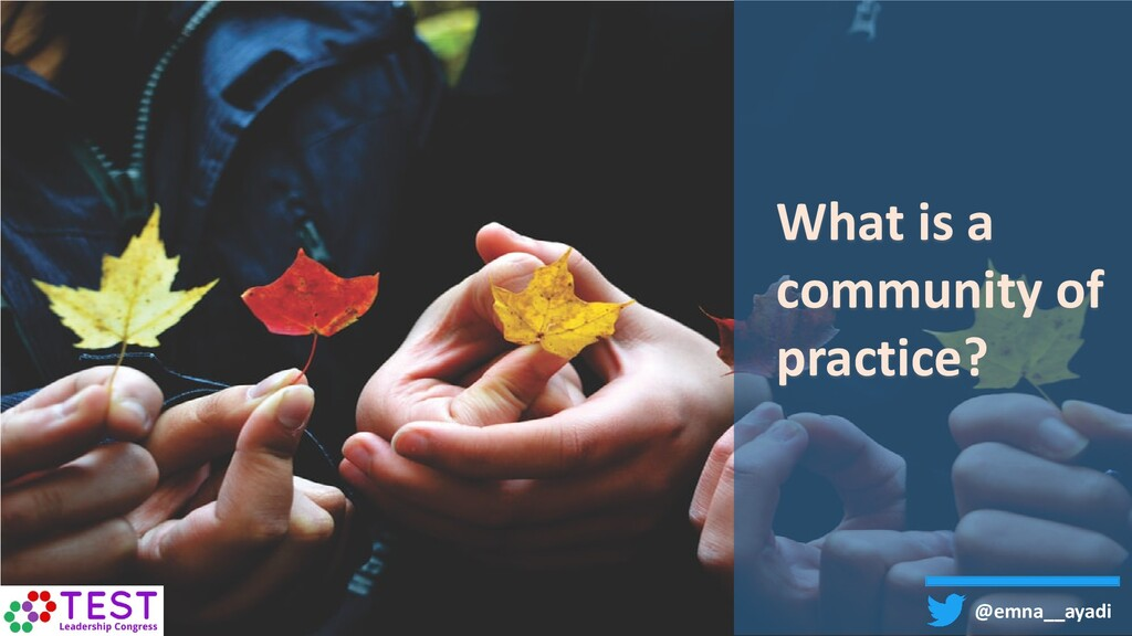 What is a community of practice? @emna__ayadi