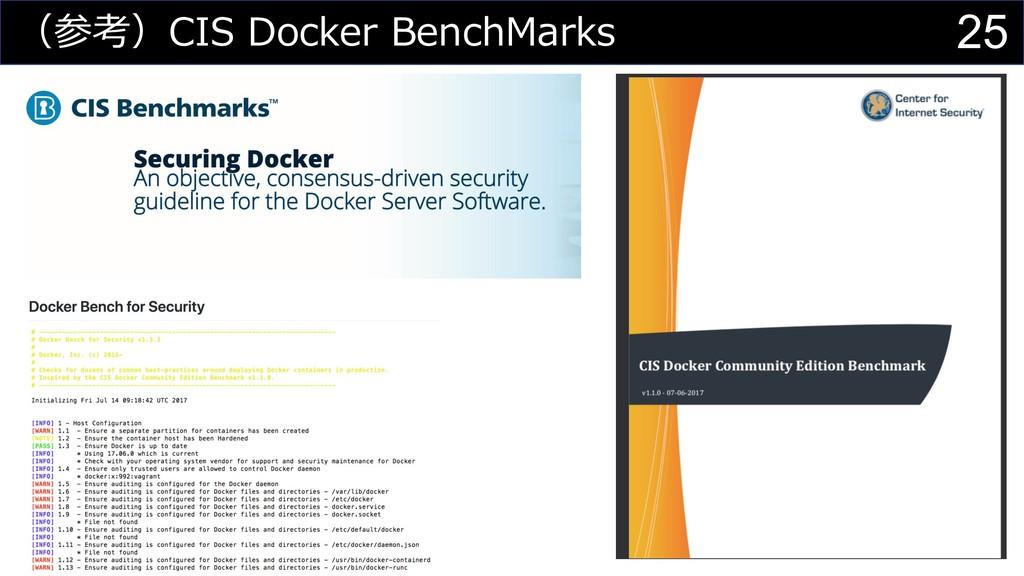 25 (参考)CIS Docker BenchMarks