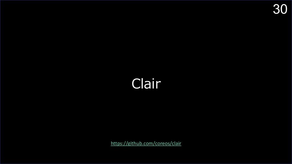 30 Clair https://github.com/coreos/clair