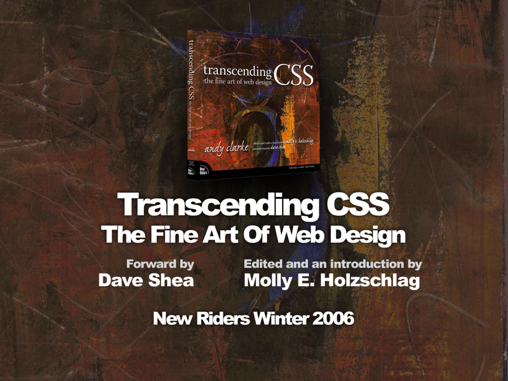 Transcending CSS The Fine Art Of Web Design For...