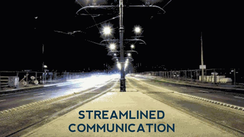 STREAMLINED COMMUNICATION