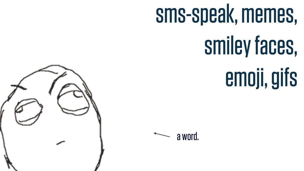 sms-speak, memes, smiley faces, emoji, gifs a w...