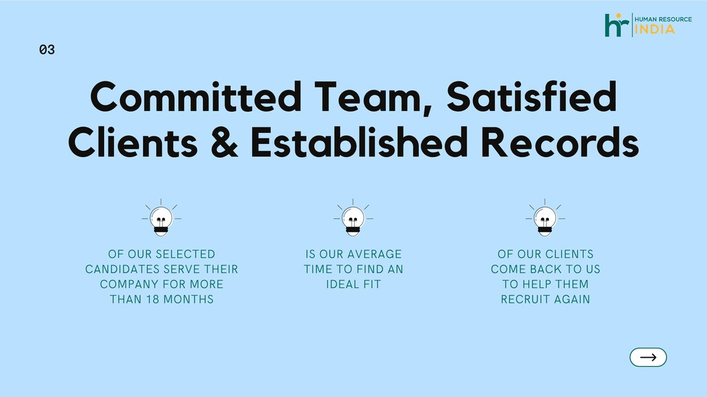 Committed Team, Satisfied Clients & Established...