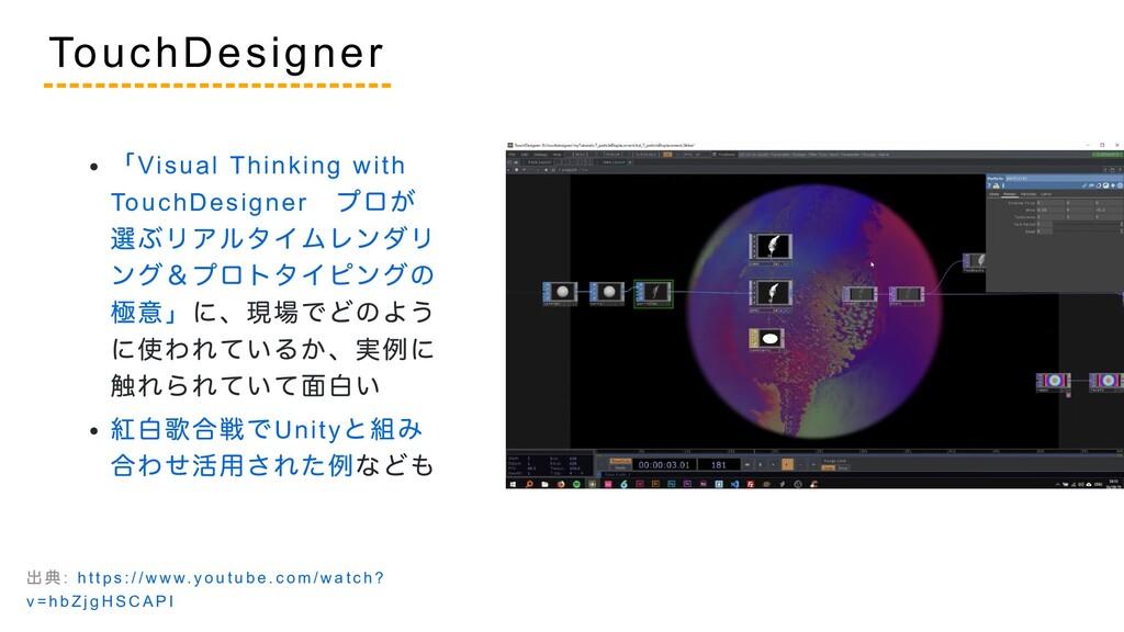 「Visual Thinking with TouchDesigner  プロが 選ぶリアルタ...