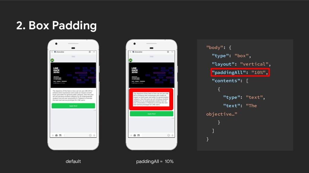 "default paddingAll = 10% 2. Box Padding ""body"":..."