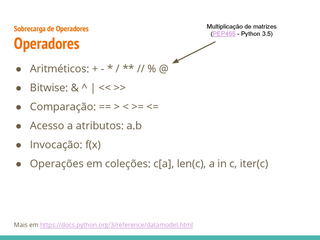 Sobrecarga de Operadores Operadores ● Aritmétic...