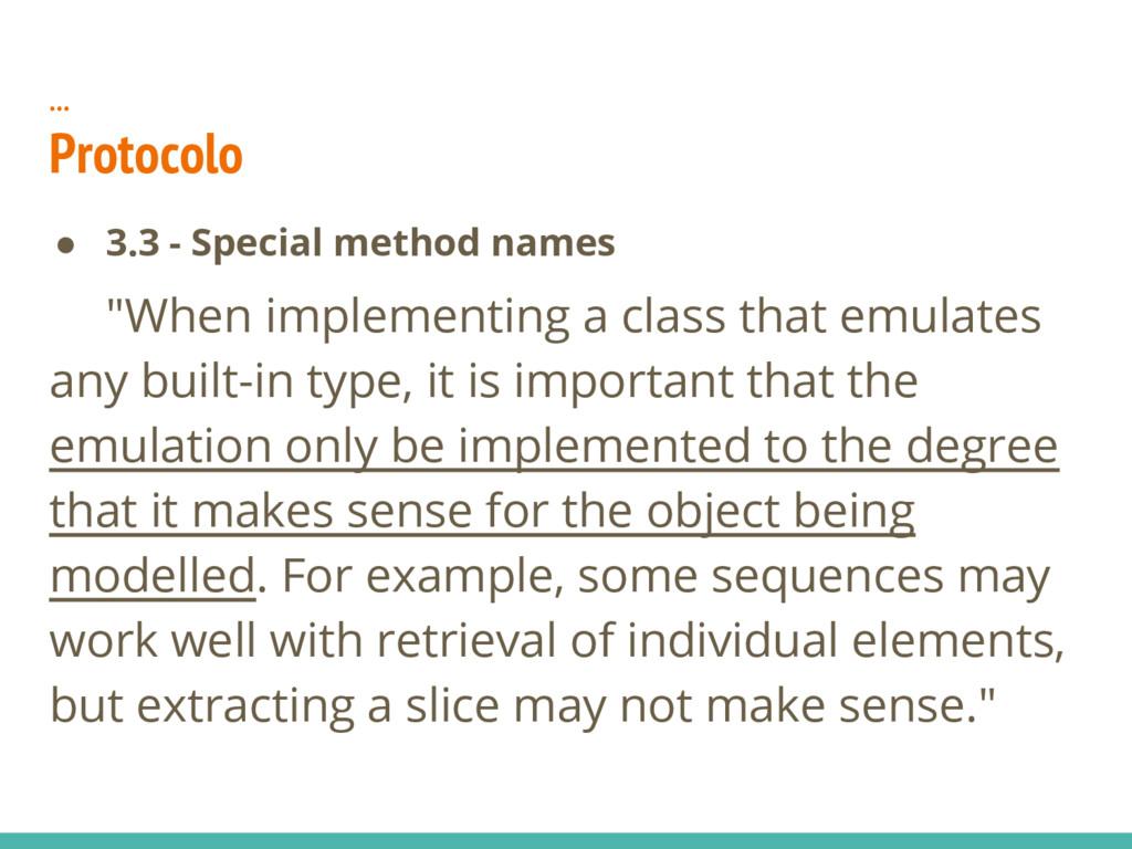 "… Protocolo ● 3.3 - Special method names ""When ..."