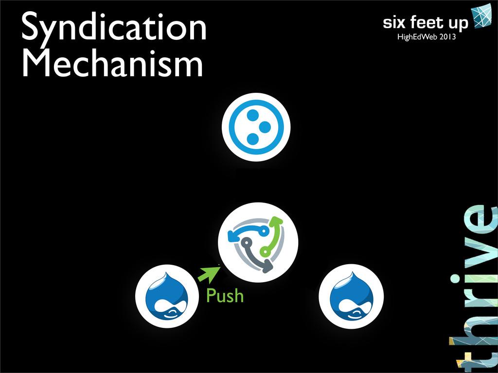 HighEdWeb 2013 Syndication Mechanism Push