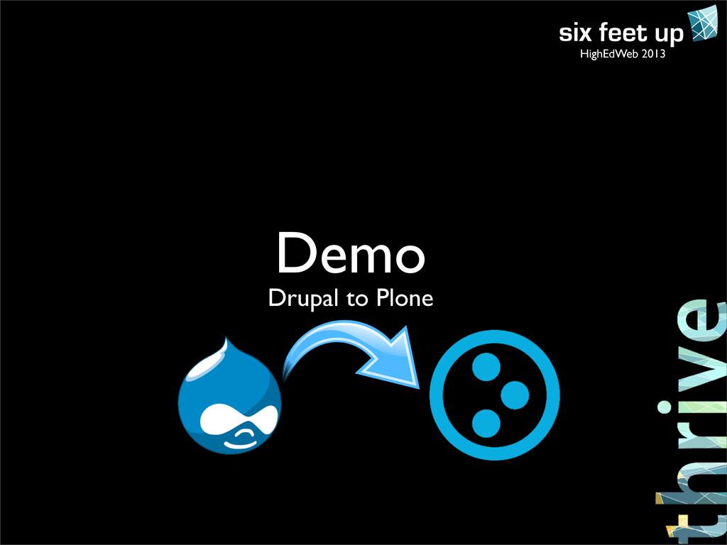 HighEdWeb 2013 Demo Drupal to Plone