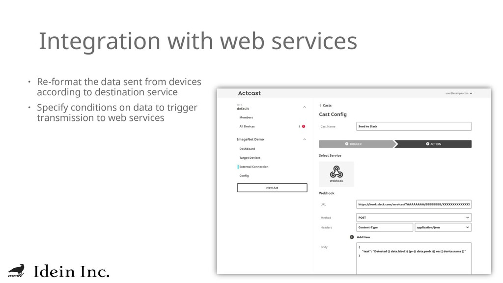 Integration with web services  Re-format the d...