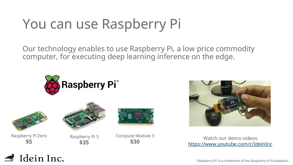 You can use Raspberry Pi Our technology enables...