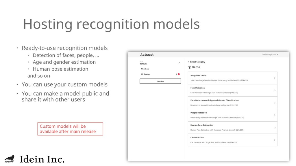 Hosting recognition models  Ready-to-use recog...