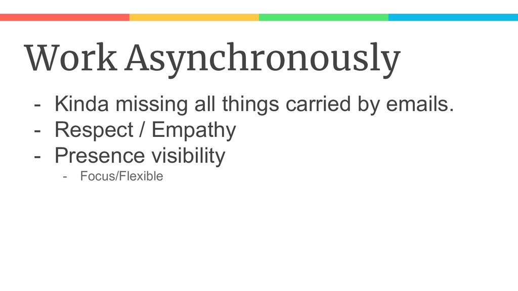 Work Asynchronously - Kinda missing all things ...