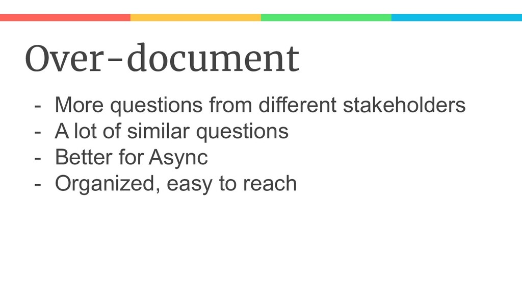 Over-document - More questions from different s...