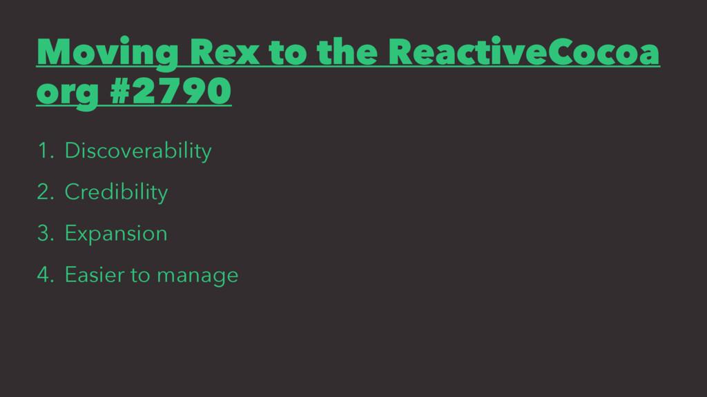 Moving Rex to the ReactiveCocoa org #2790 1. Di...