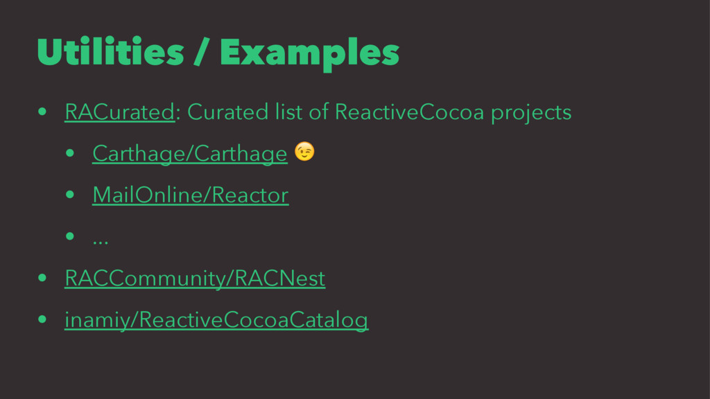 Utilities / Examples • RACurated: Curated list ...