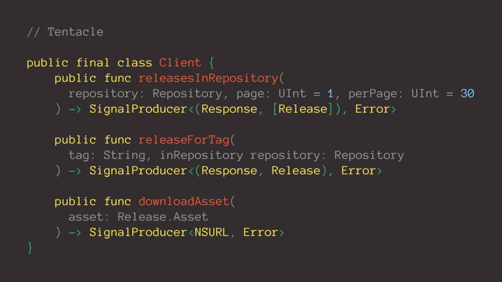 // Tentacle public final class Client { public ...