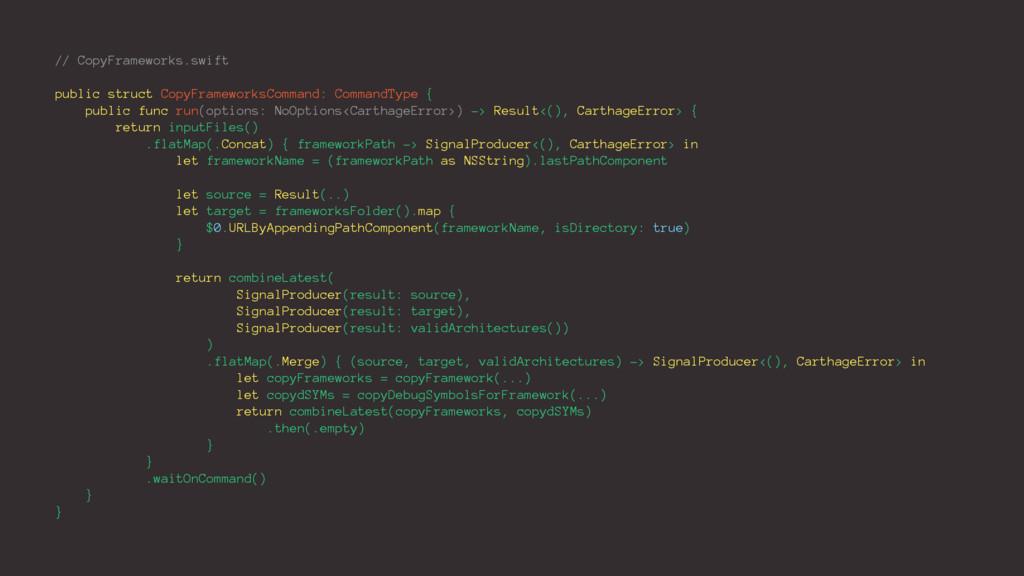 // CopyFrameworks.swift public struct CopyFrame...