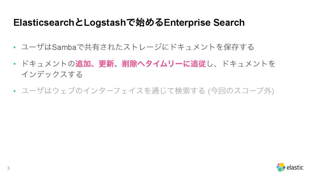 ElasticsearchͱLogstashͰΊΔEnterprise Search • Ϣ...