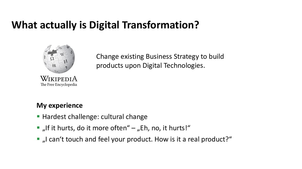 What actually is Digital Transformation? My exp...