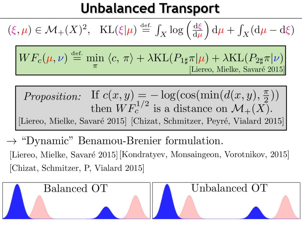 "Unbalanced Transport ! ""Dynamic"" Benamou-Brenie..."