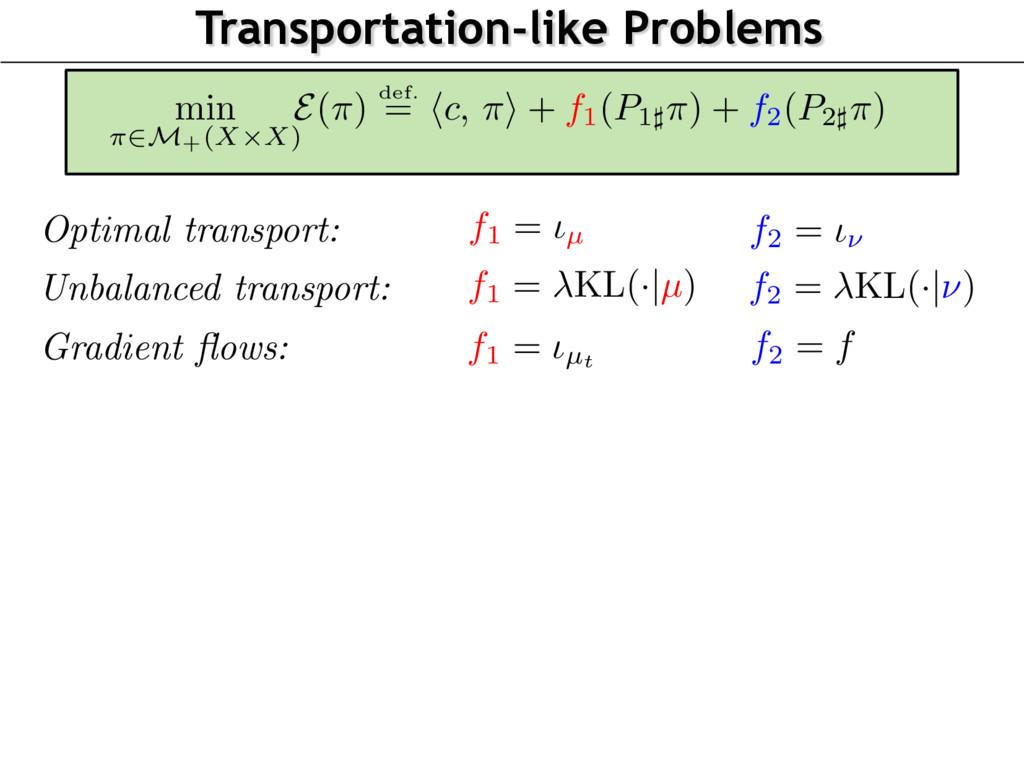 Transportation-like Problems Unbalanced transpo...