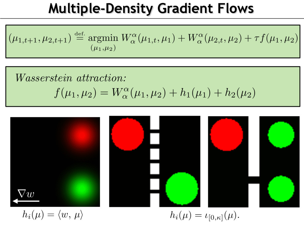 Multiple-Density Gradient Flows Wasserstein att...