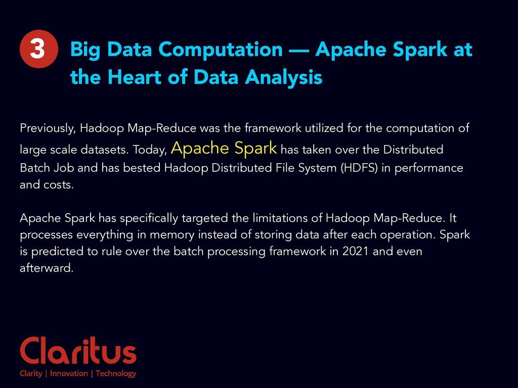 Big Data Computation — Apache Spark at the Hear...