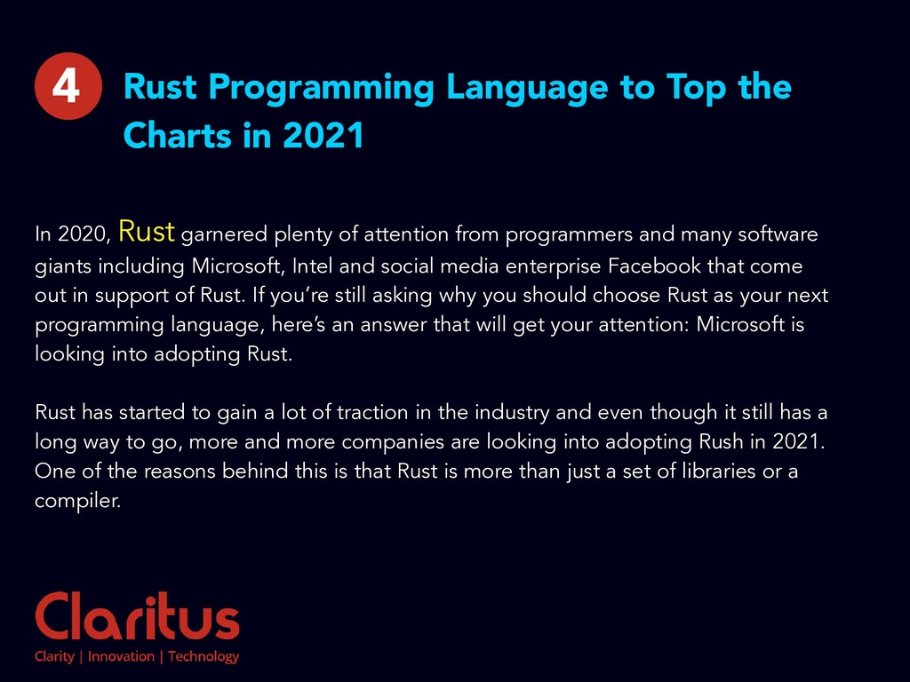 Rust Programming Language to Top the Charts in ...