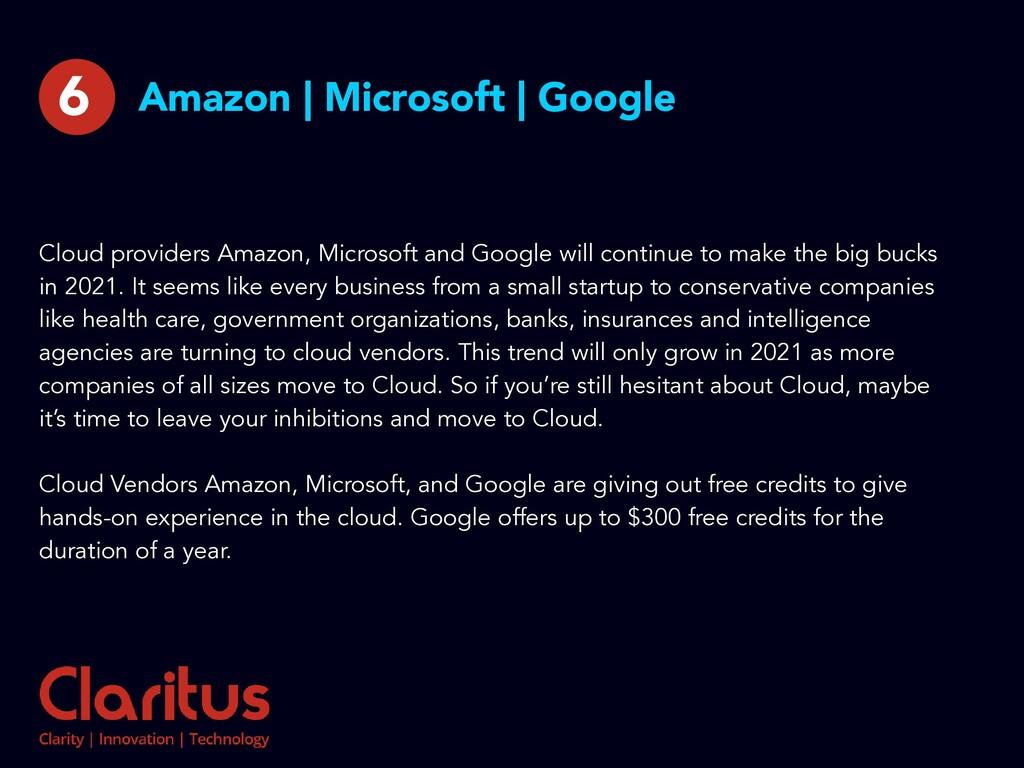 Amazon | Microsoft | Google Cloud providers Ama...