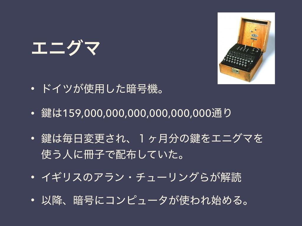 • υΠπ͕༻ͨ͠҉߸ػɻ • 伴159,000,000,000,000,000,000௨...