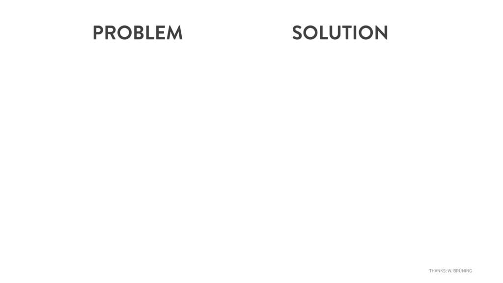 PROBLEM SOLUTION THANKS: W. BRÜNING