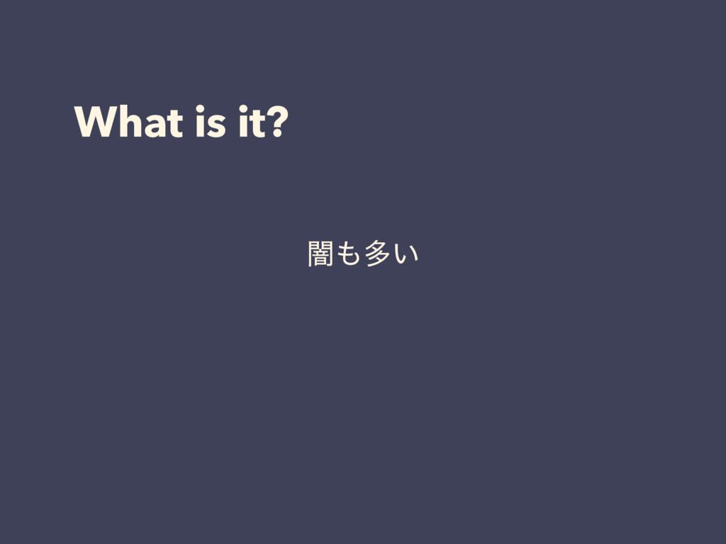 What is it? ҋଟ͍