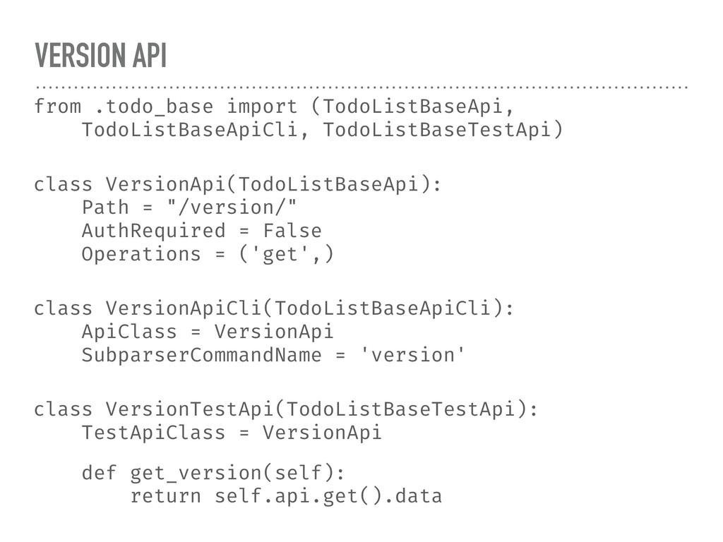 VERSION API from .todo_base import (TodoListBas...