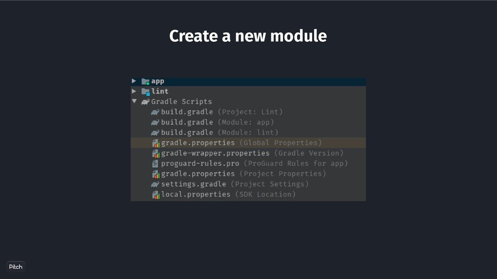 Create a new module