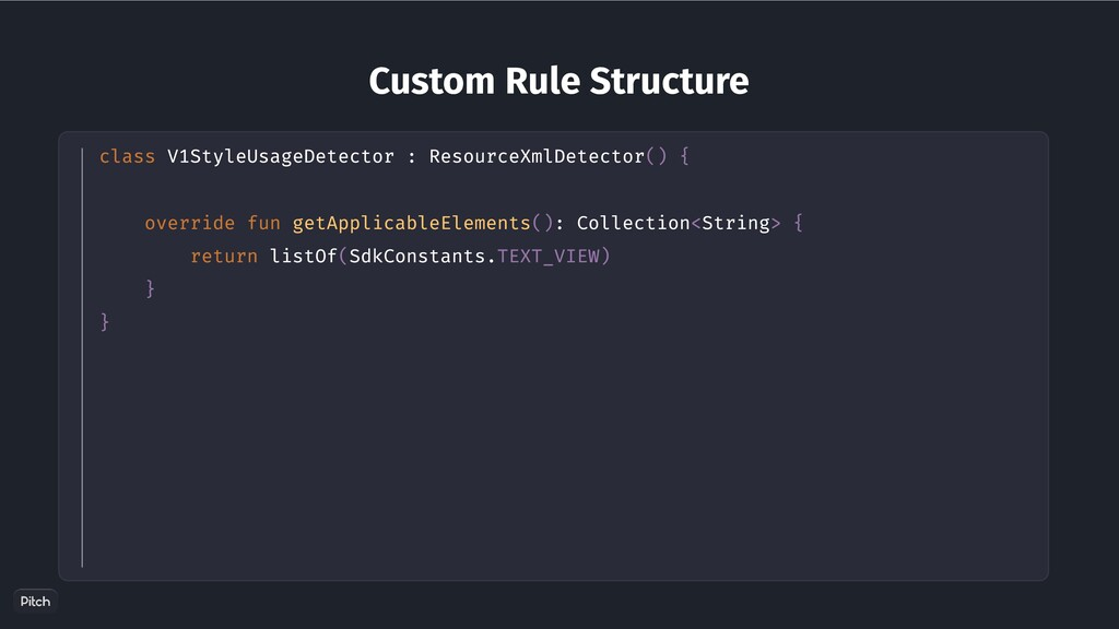 Custom Rule Structure class V1StyleUsageDetecto...