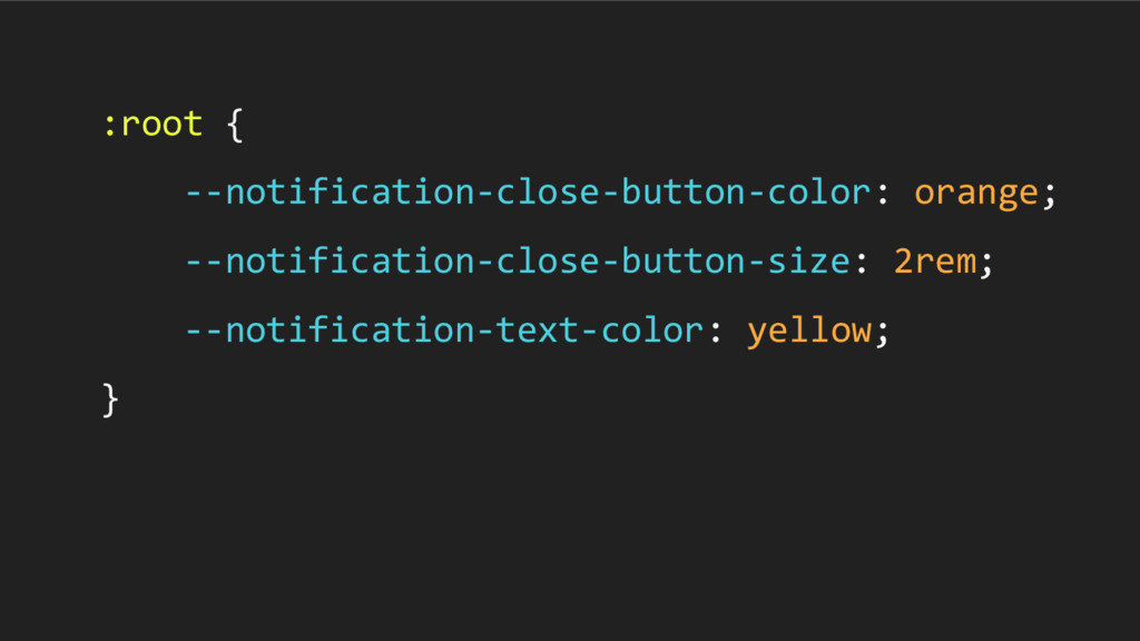 :root { --notification-close-button-color: oran...