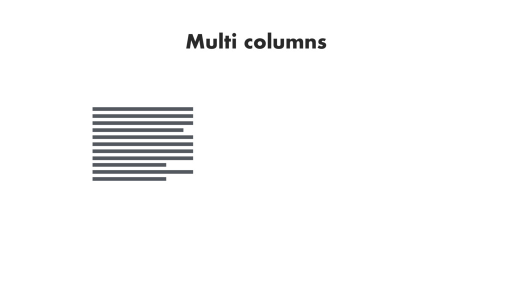 Multi columns